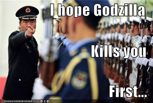 army foreign funny godzilla lolz soldiers - 4009832192