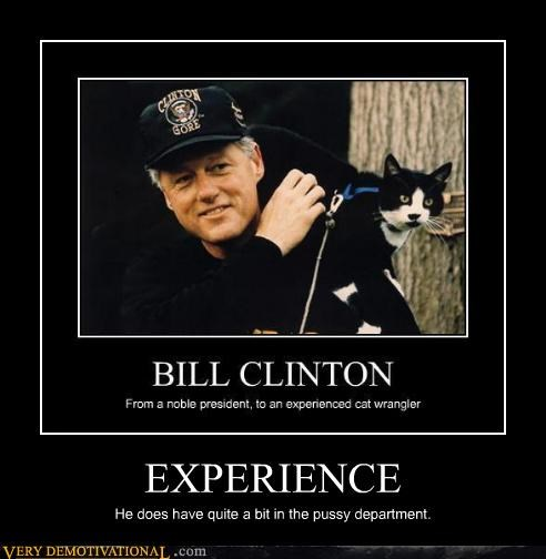 animals,bill clinton,Cats,experience,ex-presidents,level up,puns,Pure Awesome,sex