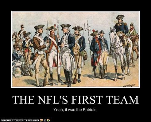 THE NFL'S FIRST TEAM Yeah, it was the Patriots.