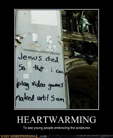 faith,graffiti,jesus,jk,just-kidding-relax,religion,text,video games
