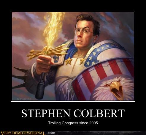 america,fear,Hall of Fame,news,politics,Pure Awesome,stephen colbert,sword,trolling,TV