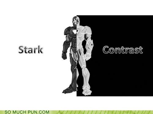 black contrast gray area iron man justice opposites subjectivity tony stark white