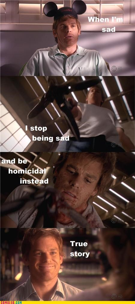 being sad Dexter murder solution TV - 4011401984