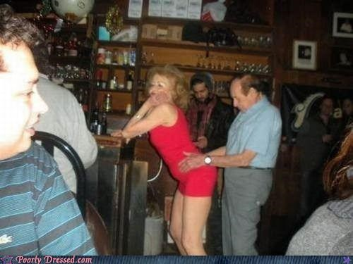 bar,dancing,dress,elderly,skin tight