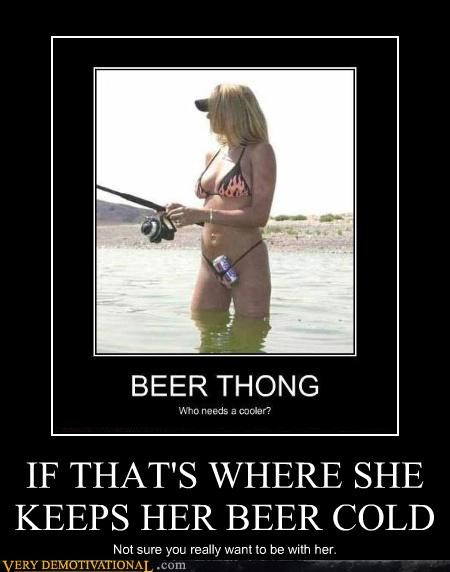 babe beer bikini coolers fishing Sad thong wtf