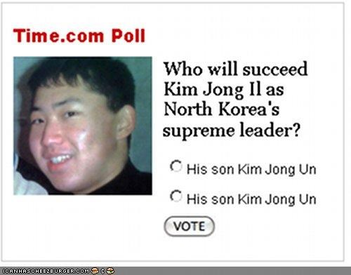 FAIL,funny,news,North Korea,poll,time