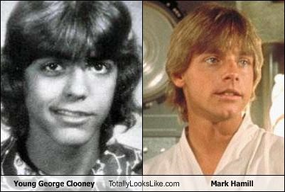 actors george clooney Mark Hamill star wars young