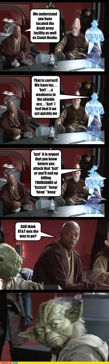 att,cell phones,Mace Windu,Samuel Jackson,star wars,yoda