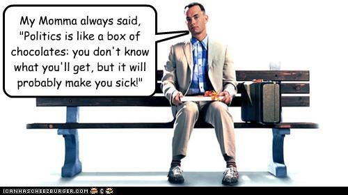 Forrest Gump expands on his original saying...