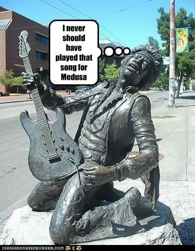 funny,jimi hendrix,lolz,statue