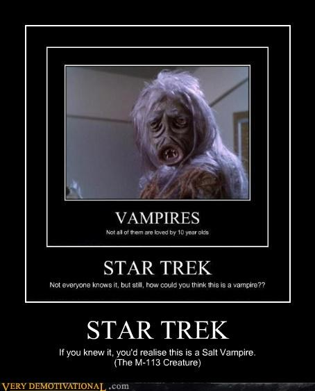 STAR TREK If you knew it, you'd realise this is a Salt Vampire. (The M-113 Creature)