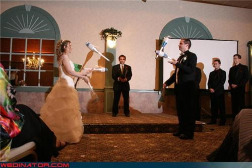 Crazy Brides,crazy groom,funny juggling picture,funny wedding photos,juggling bride and groom,reception entertainment,surprise,tandem love,were-in-love,Wedding Themes,well-oiled machine,wtf,wtf is this