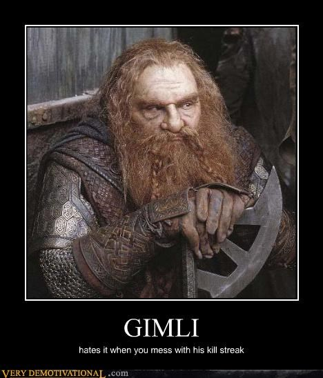 kill streak Lord of the Rings gimli funny - 4013373952
