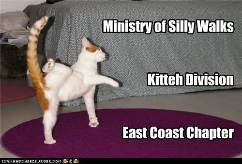 Ministry of Silly Walks Kitteh Division East Coast Chapter