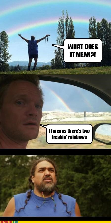 definitions double rainbow duh Neil Patrick Harris the internets what does it mean