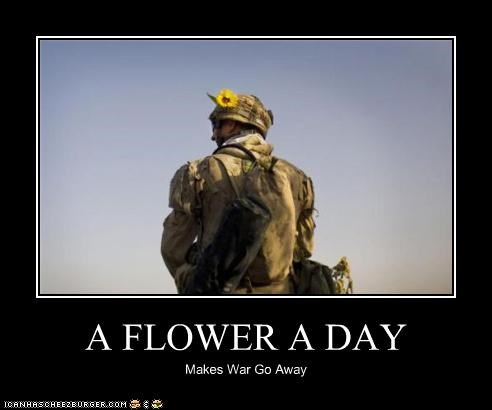 A FLOWER A DAY Makes War Go Away