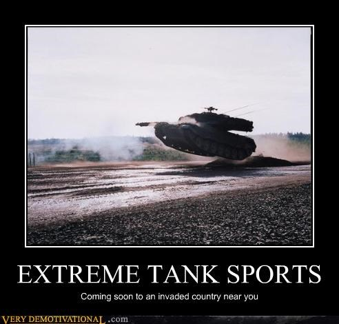 awesome extreme invasions mountain dew sports stunts tanks Terrifying war