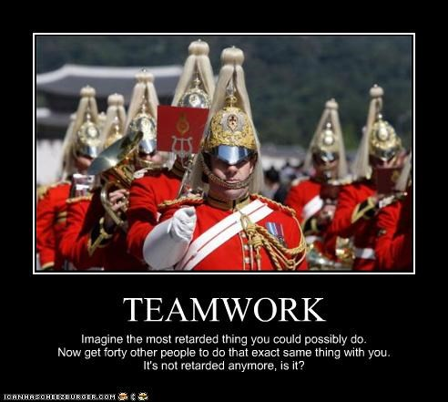 demotivational funny lolz military soldiers teamwork wtf - 4014582528
