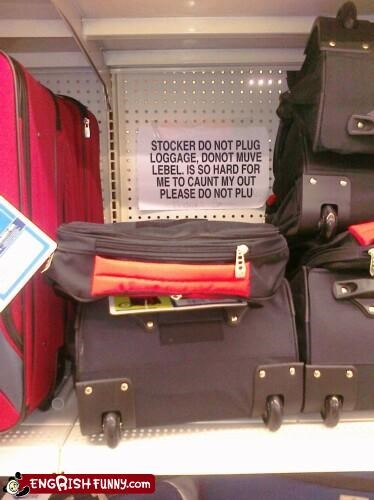 at the luggage section at wally world