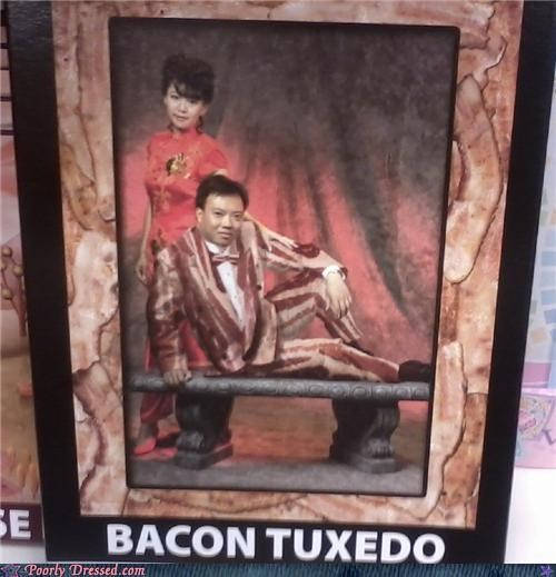 bacon,food,meat head,tuxedo