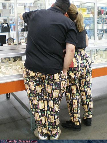 couple gross matching pants - 4014925312