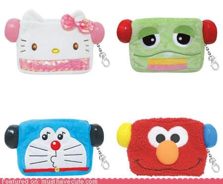 accessory amplify bag car carry characters cute cute-kawaii-stuff electronics gadget Keychain listen mp3 player Music Plush pouch protect soft speakers - 4015192576