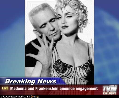 fashion,frankenstein,jean-paul gaultier,lolz,Madonna,musician