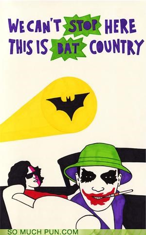 bat country batman fear and loathing in las vegas gonzo Hunter S Thompson joker two face - 4015383296