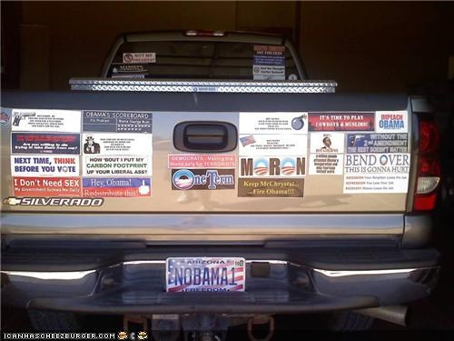 bumper sticker,car,funny,nobama,wtf