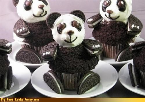 animals bears cookies cupcakes Oreos panda Sweet Treats - 4015778816