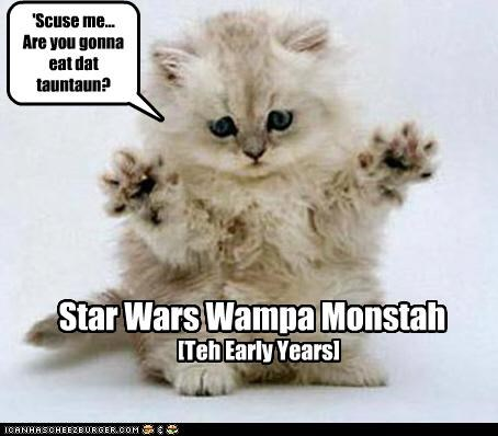 'Scuse me... Are you gonna eat dat tauntaun? Star Wars Wampa Monstah [Teh Early Years]