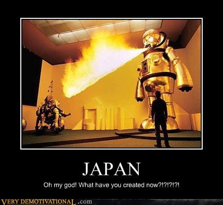 fire flames Japan omg robots Terrifying wtf - 4016614400
