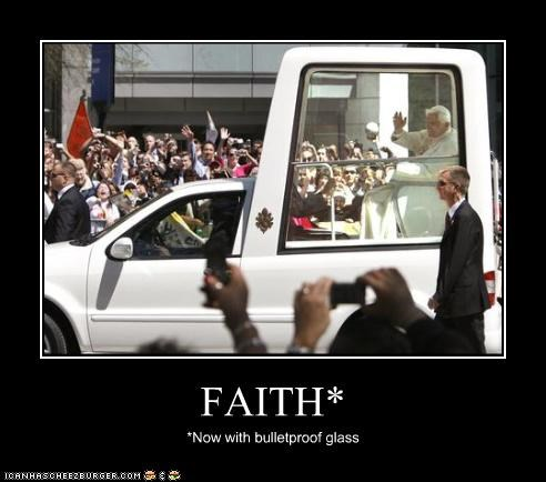 demotivational faith funny lolz Pope Benedict XVI religion - 4016782848