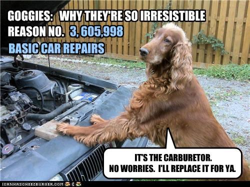 GOGGIES: WHY THEY'RE SO IRRESISTIBLE BASIC CAR REPAIRS REASON NO. IT'S THE CARBURETOR. NO WORRIES. I'LL REPLACE IT FOR YA. 3, 605,998