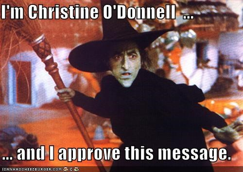 christine-odonnell,lolz,margaret hamilton,the wicked witch,the wizard of oz