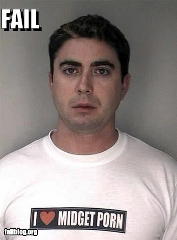 failboat Fetish jail midgets mugshot Photo pr0n shirt - 4018944512
