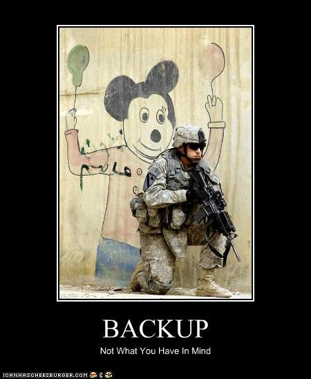 BACKUP Not What You Have In Mind
