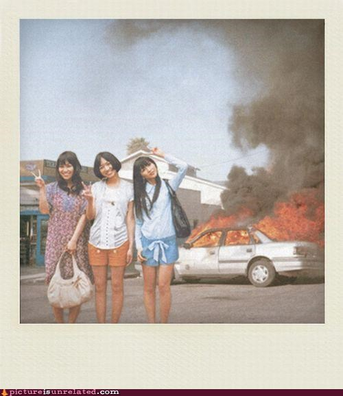 babes,car,fire,Photo,vacation,wtf