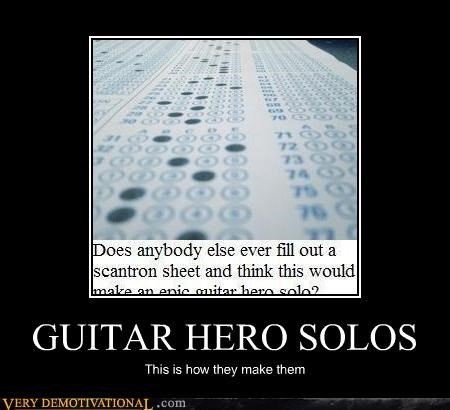 GUITAR HERO SOLOS This is how they make them
