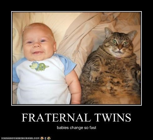 FRATERNAL TWINS babies change so fast