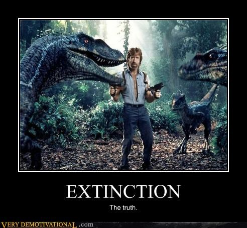chuck norris,dinosaurs,extinction,guns,history,science,Terrifying,the truth