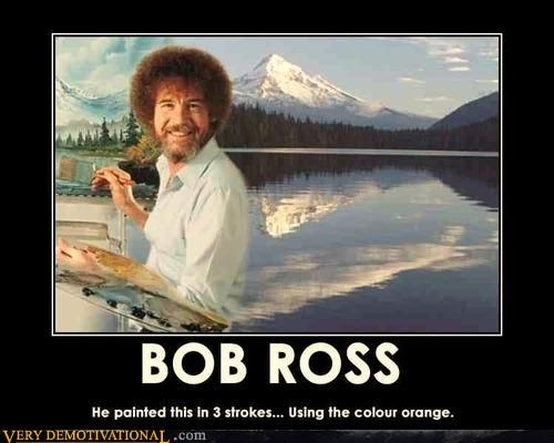 bob ross English spelling magic paintings Pure Awesome - 4021618176