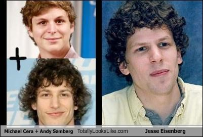 actors andy samberg comedians facebook jesse eisenberg michael cera the social network - 4021724672