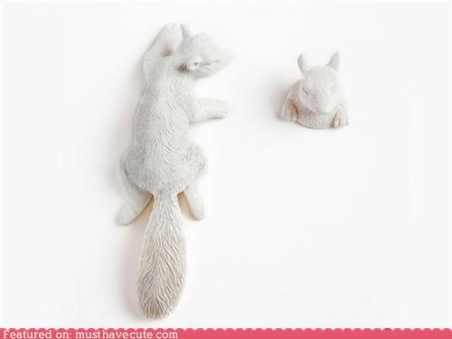 accessory coat hooks decoration figurine hanger squirrel wall wall hooks - 4021776896
