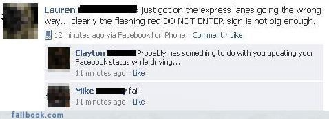 bad idea driving fail at life really you missed something
