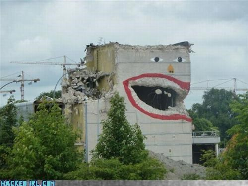 building eat graffiti nom