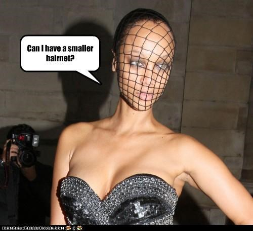 hairnets models nets too big Tyra Banks wtf - 4022204160