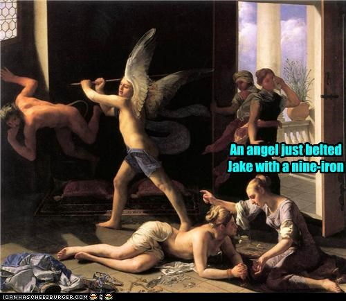 angel art funny painting religion - 4022886144