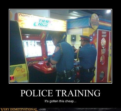 education guns in this economy police sad but true time crisis training video games