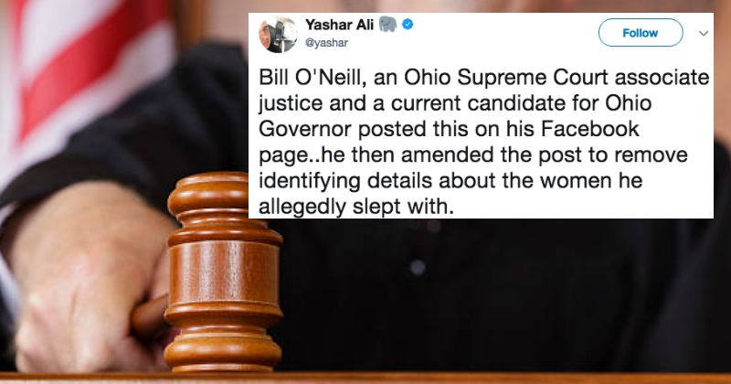 Ohio governor shares insane too much information post on Facebook, and lives to regret it.